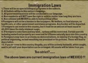 Mex Immigration Laws