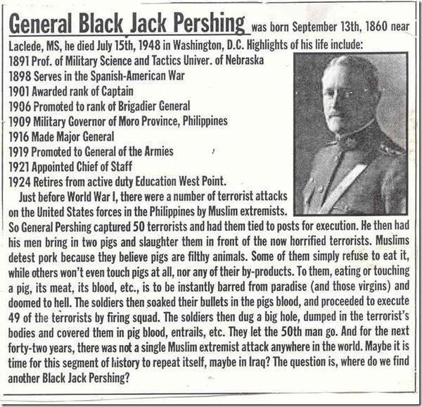 pershing muslim singles General john 'black jack' pershing on dealing with islamic terrorism http general john pershing on dealing with islamic there was not a single muslim.